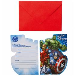 Avengers Einladungskarten 8 Stück