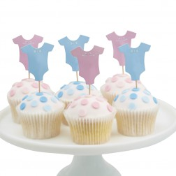Cupcake Toppers Little Lady or Mini Mister 12 Stück