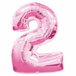 Folienballon Pink Nr 2 86cm