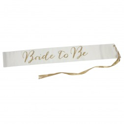 Brautschärpe Bride to Be satin gold