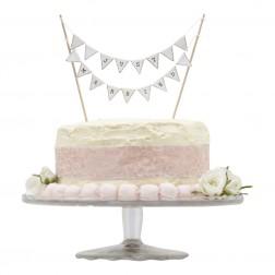 Minigirlande für Hochzeittorte Just Married