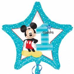Folienballon Mickey 1. Geburtstag 43cm