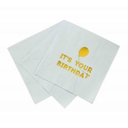 Servietten your Birthday blau 16 Stück
