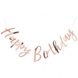 Girlande Happy Birthday rosegold 1,5m