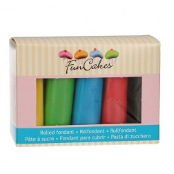 Rollfondant Multipack Essential Colours 5x100g