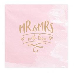 Servietten Mr & Mrs 20 Stück