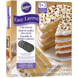Wilton Cake Pan Easy Layers 4er Set 20cm