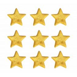 Zuckerdekor Sterne gold 9 Stück