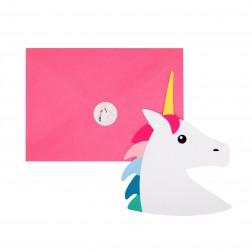 Einladungskarten Unicorn 8 Stück