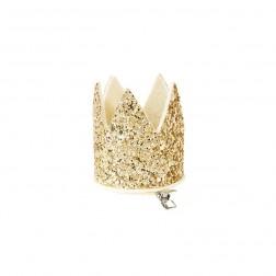 Mini Krone Glitter Gold