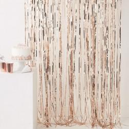 Lametta Vorhang rosegold 91 x 244cm