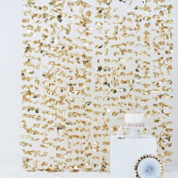 Photo Booth Backdrop Gold 1,8 x 2m