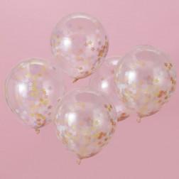 Luftallons Star Confetti Make A Wish 5 Stück