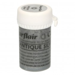 Sugarflair Paste Colour Satin ANTIQUE SILVER 25g