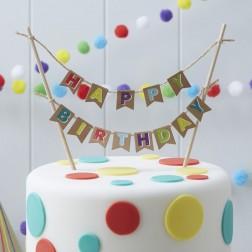 Torten Girlande Happy Birthday