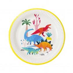 Pappteller Dinosaur 8 Stück