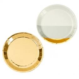 Pappteller Canape gold 8 Stück