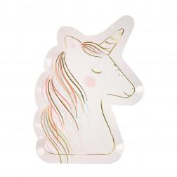 Pappteller Unicorn 8 Stück