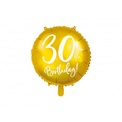 Folienballon 30th Birthday gold 45cm