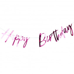 Happy Birthday Girlande Hot Pink 1,5m