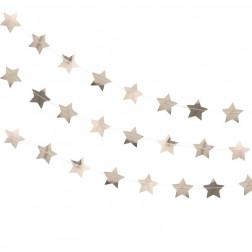 Girlande Glitter Sterne Metallic Rose Gold 5m
