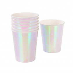 Pappbecher We Love Pastels Iridescent 12 Stück