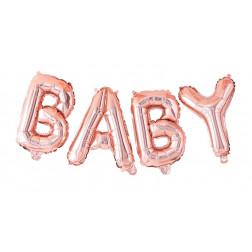 Folienballon Baby rosegold