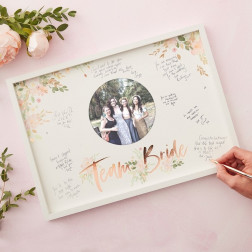 Frame Guest Book Floral Hen Party