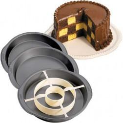 Wilton Checkerboard Round Cake Set/4