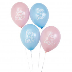 Luftballons Boy or Girl blau pink 8 Stück