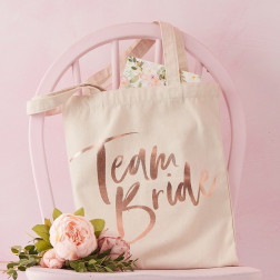 Team Bride Tasche Floral Hen Party Baumwolle