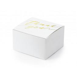 Boxes Thank you weiß gold 10 Stück