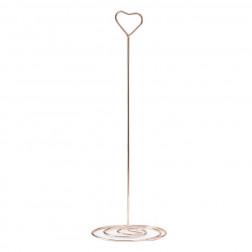 Table Number Stand Metal Rosegold