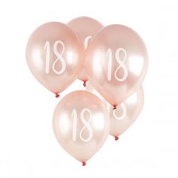 Luftballons 18 Rosegold 5 Stück