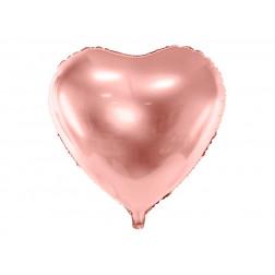 Folienballon Herz Rosegold 61cm