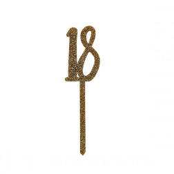 Cake Topper 18 gold acryl