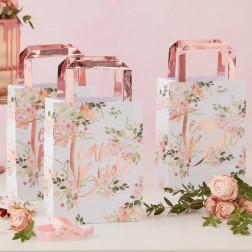 Team Bride Papier Tasche Floral Party 5 Stück
