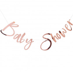 Girlande Baby Shower rosegold 1,5m