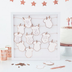 Alternative Babygrow Frame Guest Book - Twinkle