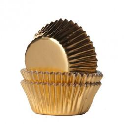 Mini Baking Cups Folie Gold 36 Stück