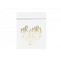 Tüten Mr & Mrs 13 x16,5cm 6 Stück