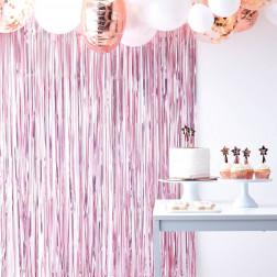 Lametta Vorhang pink 1 x 2,5m