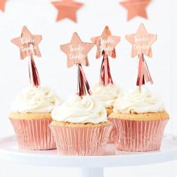 Cupcake Topper Stern Twinkle 12 Stück
