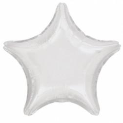 Folienballon Stern Weiß 48cm