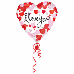 Folienballon Herzen I Love you 43cm