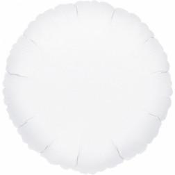 Folienballon Rund weiß 43cm