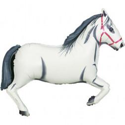 Folienballon Pferd weiß 109cm