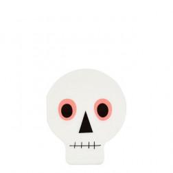 Servietten neon Skull 20 Stück