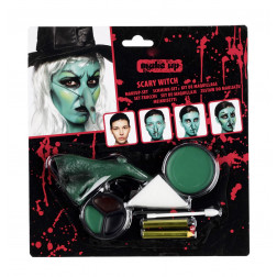 Schminke set Make-up Witch 9-teilig