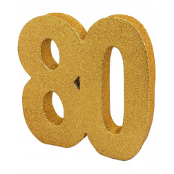 Tisch Deko 80. Geburtstag Gold